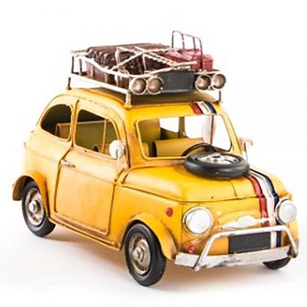 Carro Vintage Metal Amarelo