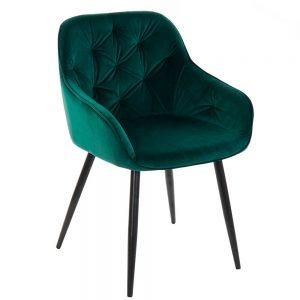 Cadeira Veludo e Metal | Homeart - Design e Decoração de Interiores | 19000979