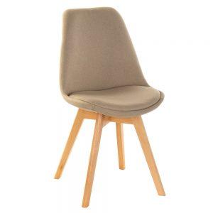 Cadeira Acolchoada Pés Madeira | Homeart - Design e Decoração de Interiores | 19000980