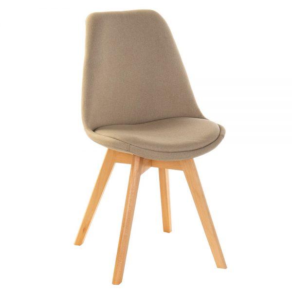 Cadeira Acolchoada Pés Madeira