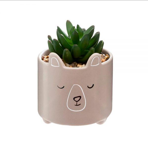 Vaso decorativo cerâmica Urso