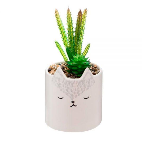 Vaso decorativo cerâmica Raposa
